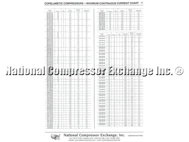 Copeland Models MD,2D,3D,4D,6D,8D Reciprocating Compressors